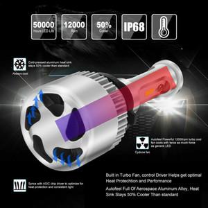 2x LED 9006 HB4 Foglight de alta de luz de cruce blanca Bulbos Auto Car Kit 6000K