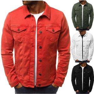 Erkek Ceket Rahat Tulum Mont Erkek Düğmeleri Uzun Kollu Tek Göğüslü Ceket Ceketler Turn-down Yaka Giyim Mont Sonbahar Ceket