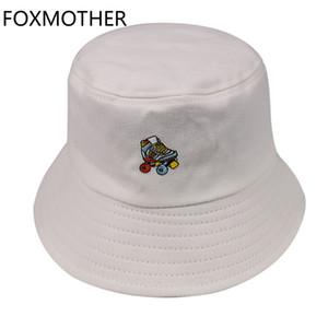 FOXMOTHER Nouveau Couleur Rose Noir Skates Blanc Chapeau femmes coréenne mode 2019 Caps Chapeau