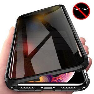 Painel de vidro Cobertura completa Privacidade Magnetic Adsorção temperado Phone Case para iPhone 11 pro MAX XR Xs 8 7 Plus Magnet Anti Spy Tampa