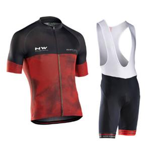 NW 2018 NORTHWAVE Sommer Männer Radfahren Jersey Kurzarm Set Atmungsaktive Bike Shirts Trägerhose Anzug Fahrrad Kleidung Gel Pad Kleidung 120408Y