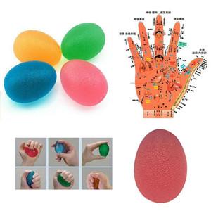 Chegada Nova 1 Pc Terapia Mão Bola Dedo instrutor de pulso Arthritis Exerciser Squeeze Esfera do esforço Brinquedos Silicone aperto Bola Força