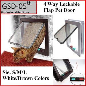 Cat Door 4 Way Locking Cat Flap Door для внутренних наружных дверей атмосферостойкие домашние двери для кошек собак
