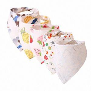 5PCS Newborn Baby Bibs Cartoon Feeding Cloth Folding Triangles Scarf Bibs Drool scarf Baby Care Accessories &w o4Nr#