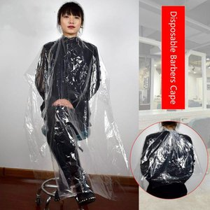 2016 Univinlions 130150 Disposable PE Waterproof Apron Cut Perm Dye Hair Cape Gown Antistatic Barber HomeWrap Hairdressing Cloth KrzJo