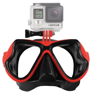 Underwater Scuba Diving Mask Professional Snorkel Swimming Goggles Compatible Gopro Camera Anti Fog Coated Tempered Glass water sport