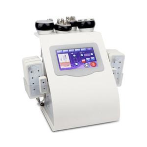 6in1 40k Liposucción ultrasónica Cavitación 8Pads LLLT lipo Láser Máquina para adelgazar Vacío RF Cuidado de la piel Salón Spa