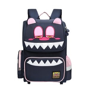 Pinkland2019 New Korean Version of the Childrens First Grade School Bag Womens Spinal Care Burdens Students Shoulder Bag Cute