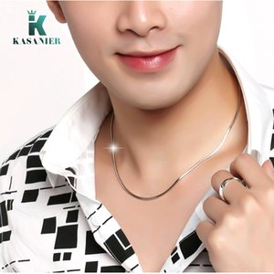 10pcs Wholesale 2mm Silver Fashion Necklace Women's Trendy Snake Chains Necklace For Women's Men's Chain Curb Necklace New