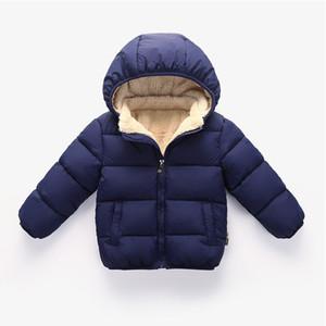 Meninos Revestimento E Brasão Crianças Childrens Inverno acolchoado mais grossa de veludo agasalho Cross-Border para em nome