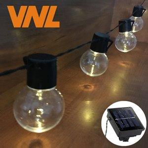 VNL Solar 5M 20 LED Wedding G50 String Fairy Light LED Globe Festoon Bulb Warm Fairy String Light Outdoor Party Garden Garland Y200603