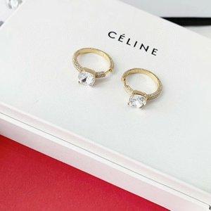 forma redonda moda- com pequeno e um grande diamante brilhante para as mulheres de jóias charme PS6737A frete grátis