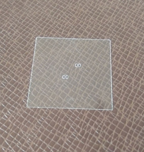 ultra thin quartz glass plate with square hole,photo mask