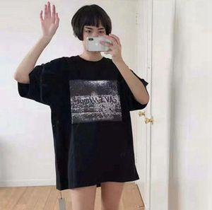 Hombre del diseñador de camisetas CAVEMPT 20SS C.E DISGUISE Nueva camisa diseñador japonés Cyberpunk Tide suelta de manga corta camiseta
