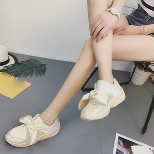 2019 Hot Sale Spring Espadrilles Woman Shoes New Bow-Knot Flats Silk Bow Woman Round Comfort Shoes Casual Female High Quality