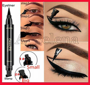 sigillo Cmaadu Eyeliner penna asciutta Eye Ala Stamp rapida impermeabile duratura doppia testa occhio di linea Thin Thick Eyeliner