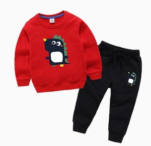 New classic Luxury Designer Baby t-shirt jacket Pants Two-piec 1-9 years olde Suit Kids fashion Children's 2pcs Cotton Clothing Sets ms