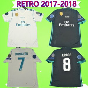 2017 2018 gerçek madrid futbol forması 17 18 BALE BENZEMA MODRIC KROOS Retro futbol forması Vintage ISCO Maillot SERGIO RAMOS RONALDO Camiseta