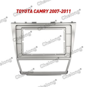 2din Car Dashboard Frame Fit For Camry 2007 -2011 Car Dvd Gps Dash Panel Kit Mounting Frame Trim Fascias