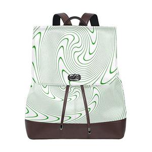 Designer Damen Reisen Leder Rucksack Gurt Brieftasche Casual Umhängetasche Computer Rucksack Studentin Tasche