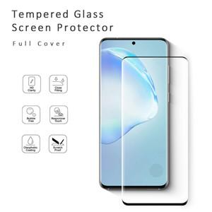 Pour Samsung S20 Ultra Plus travail Finger Print 9H Dureté bord courbé PARFAITEMENT Bulle case libre bienvenus Protecteur d'écran en verre trempé