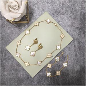 Design élégant collier en acier inoxydable gros cristal vert Trèfle à quatre feuilles collier pendentif Crémation femmes Bijoux Livraison gratuite