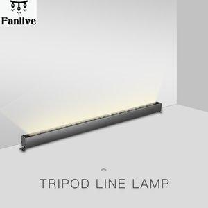5pcs 120cm 30W Fer Osram Gris Bar linéaire Ligne Lumière 2400lm 4000k Lumière naturelle Hôtel Spotlight et polarisants mur Wash lampe