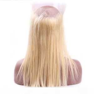Straight 613 Blonde 360 Lace Frontal Only One Piece Frontal 22.5*4*2 Inches Brazilian Human Hair Blonde 360 Lace Frontal with Baby Hair
