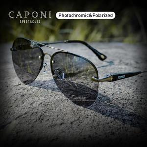 CAPONI 2020 Avation Sonnenbrille Männer polarisierten Alloy Anti-Reflect Sonnenbrille Verfärbungs Treiber Shades nach Männlich UV400 BS6179