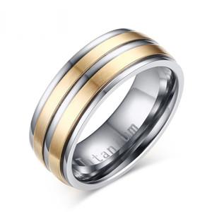 Anéis de casamento titanium do anel dos homens # 39s do carboneto tamanho de 8mm EUA gravado quotTitaniumquot