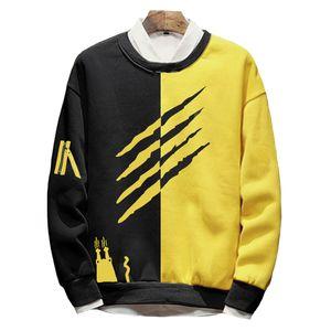 Printemps Automne Plus La Taille laine doublure hoodies Solide Coton Survêtement grand mâle O-cou Patchwork Hiphop shirts