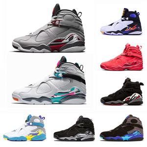 Zapatillas de baloncesto San Jose White Aqua Raid Red 8 VII 8s para hombre, de alta calidad, para el día de San Valentín, Chrome CUENTA ATRÁS PACK para hombre Deportes al aire libre