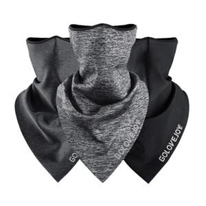 Máscara do ciclismo do velo face lenço Triângulo Cachecol Bandana Headwear Neck Warmer respirável face da tampa de Esqui Pesca equitação Facemask