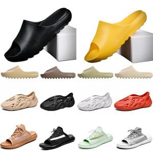 2020 kanye west Slipper Men Women Slide Bone Earth Brown Desert Sand Slide Resin Sandals Foam Runner size 36-45