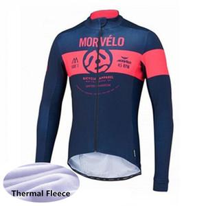 2020 panno morbido termico di inverno MORVELO Pro Cycling Jersey di sport usura ropa ciclismo invierno 120306Y vestiti MTB della bicicletta specialize moto maglie