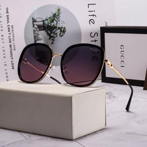 لؤلؤة الأزياء الفاخرة عدسة النظارات الشمسية عالية الجودة العلامة التجارية المستقطبة نظارات الشمس نظارات للنساء النظارات الإطار المعدني 5 اللون 2039