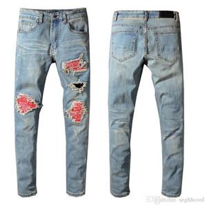 Pantalon de designer pour hommes déchiré Biker Jeans Slim Fit Jeans de concepteur pour hommes Denim pour hommes créateur de mode Hip Hop Jeans Hommes
