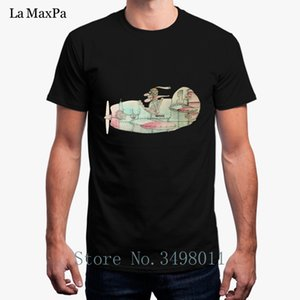 Hot Sale The Old Airplane And Pilot Vintage T-Shirt Costume Men T Shirt 100% Cotton Summer Mens Tee Shirtd Camisetas Graciosas