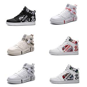 2020 zapatos de diseño NUEVO no Marca de moda para hombres de las mujeres Rojo Blanco Negro Multi-Colores para hombre Formadores ocasionales de los deportes zapatillas de deporte 36-44 Style 16