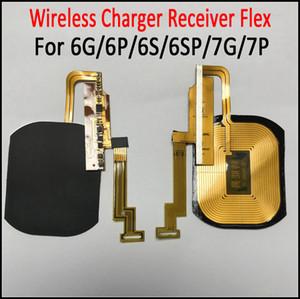Cargador inalámbrico Receptor Flex para iPhone 8 estilo Carcasa trasera para iPhone 6 6S 6Plus 6S Plus 7G 7Plus incorporado en el receptor de carga
