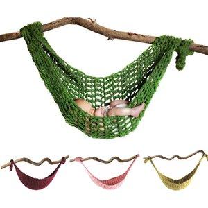 Newborn Fotografia Puntelli Crochet Amaca foto del bambino Immagini accessori a maglia Infant Hanging Cocoon Bed Hammock Oscillazioni Pet Supplies
