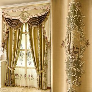 유럽 로얄 상단 4D는 거실을위한 침실 부엌 창을위한 고품질의 얇은 명주 그물 커튼 정전 커튼 자카드