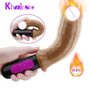 Heating USB charging Vibrator for Woman 10 speed Can bend Soft huge dildo Penis G Spot Vagina anus Masturbator Sex Toy for adult T200520