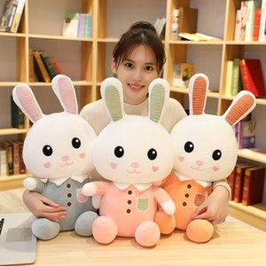 Hot Soft 1pc 40 / 55CM Nova Cartoon Cute Wear Clothes Rabbit Plush Toys Bunny Stuffed Dolls Kids Toys Baby apaziguar Presentes de Aniversário 20173035