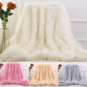 yataklar çift yüzlü Taklit kürk Battaniye Yumuşak Kabarık Sherpa Atma Battaniyeler Shaggy Yatak örtüsü ekose fourrure cobertor quequeg kapak