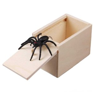 Wooden Prank Spider Box Prank Other Toys April Fool's Day Spoof Funny Scare Small Wooden Box Home Office Scare Toy Funny Gift