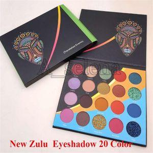 Maquillaje de ojos mascarada nueva paleta Zulu gama de colores del brillo mate ojo de la gama de 20 colores envío