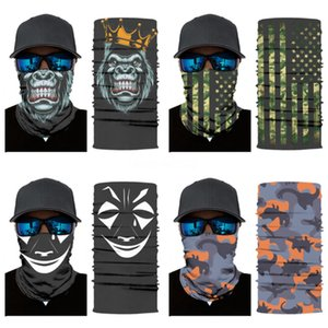 BmPOR Hot Magic Skull Scarf Bike Motorcycle Helmet Face Mask Half Cycling CS Headwear Neck Mask Headband Hat Cap Halloween Party Mask Mas#906