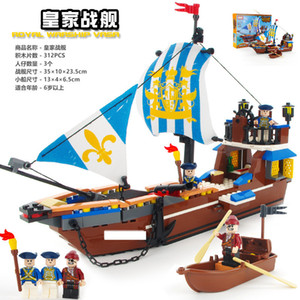 New Black Pearl Caribbean Pirate Ship Series Port ed Puzzle Team Building Blocks Childrens Toys