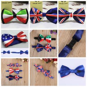 Erkekler Bow Kravatlar Kelebek Amerikan Bayrağı İngiliz bayrağı Gentleman Düğün 5 Renkler Ayarlanabilir Düğün Balo boe kravat